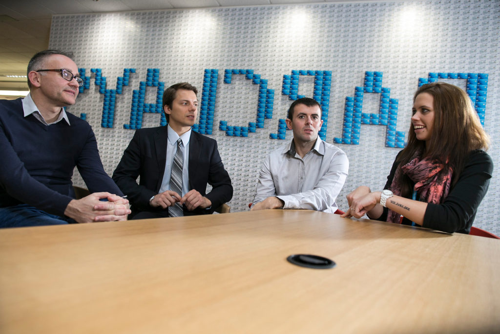 Graduates working for Barclays
